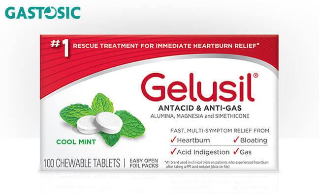 Thuốc Gelusil giảm lượng acid trong dạ dày của bạ