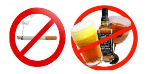 tránh rượu bia thuốc lá