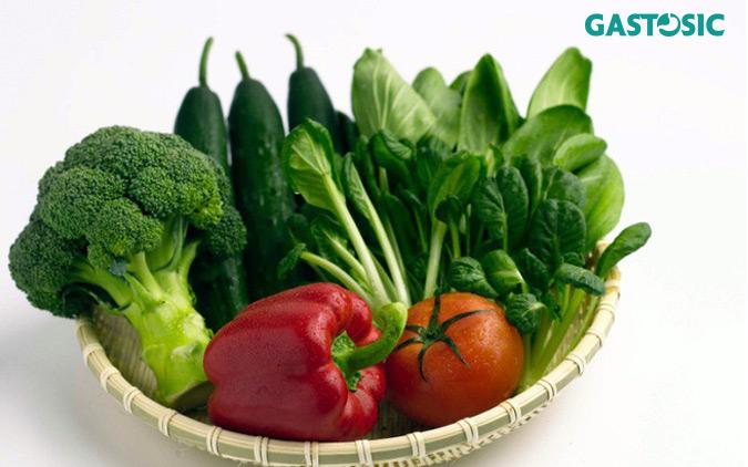 Ăn nhiều rau xanh tốt cho hoạt động tiêu hóa của dạ dày