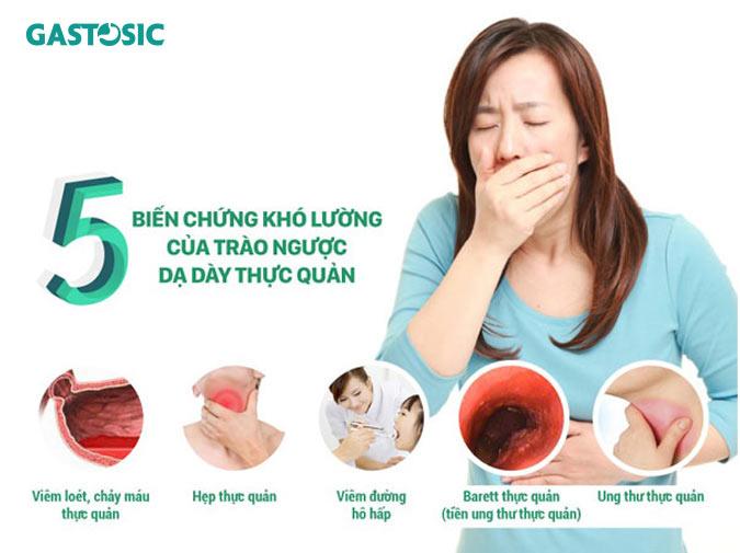 5 biến chứng nguy hiểm của trào ngược dạ dày thực quản