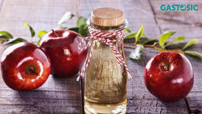 Giấm rượu táo tốt cho ợ chua đầy bụng