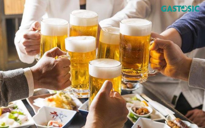 Tránh rượu bia, các đồ uống có gas