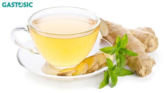 Ợ nóng nên uống trà gừng