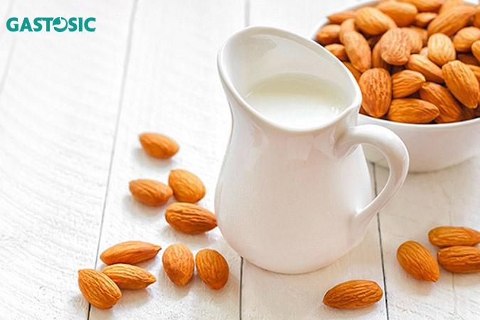 Sữa hạnh nhân tốt cho ợ nóng