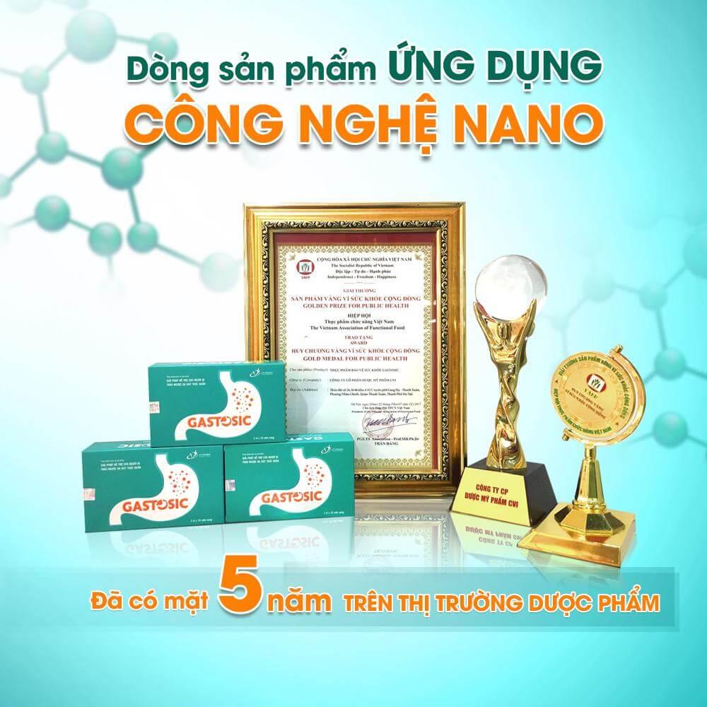 Gastosic - Sản phẩm ứng dụng công nghệ Nano