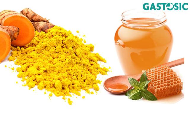 Nghệ vàng và mật ong giúp điều trị trào ngược dạ dày