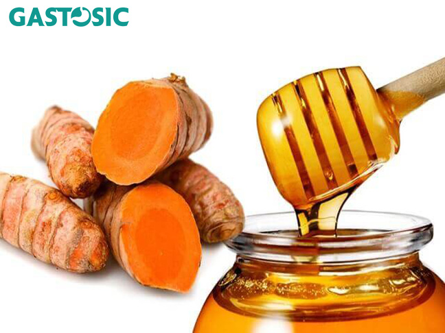 Ngâm nghệ vàng và mật ong giúp điều trị trào ngược dạ dày